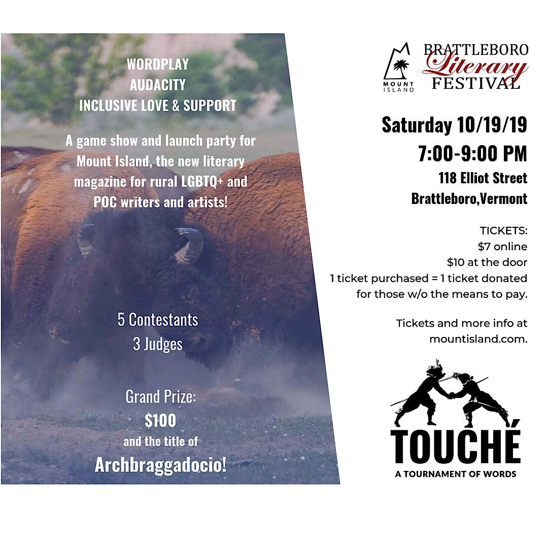 Touché! A festival affiliated event - Brattleboro Literary Festival